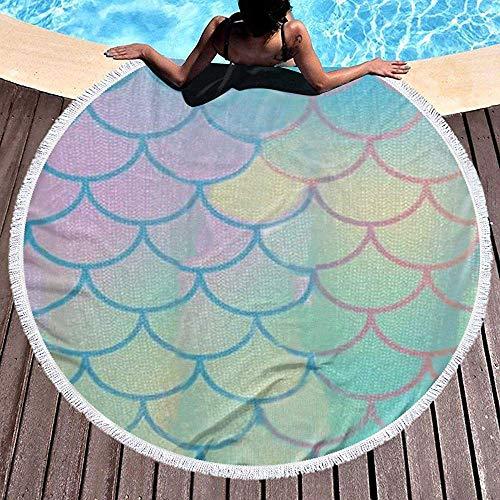 Drollpoe Manta Redonda Toallas Playa - Tapete Circular