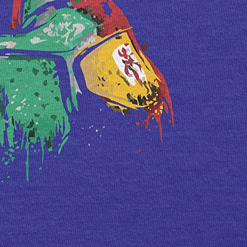 TEXLAB - Boba Splash Painting - Herren T-Shirt Marine