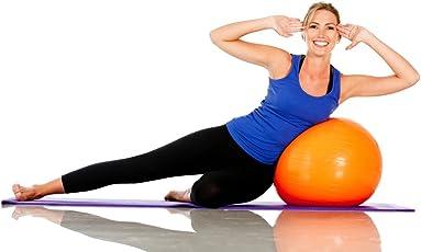 VelVeeta Fitness Gym Ball with Foot Pump 75cm