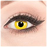 Glamlens Farblinsen 1 Paar deckend Crazy Fun- Yellow -Kontaktlinsen mit Stärke -2,00 Dioptrin + Behälter von Glamlens. Perfekt zu Halloween, Karneval, Fasching, Fasnacht oder Cosplay und Zombie Kostüme.