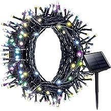 Litom Guirlande Solaire Multicolore, 200 LED Guirlande Lumineuse Extérieur, Longueur 22M, avec 8 Modes de Travail pour Décoration Jardin, Maison, Fête, Soirée