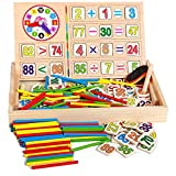 Schüler zählen Schreibwaren Frühe Lernspielzeug Multifunktions-Digital Computing Lernbox (bunt)