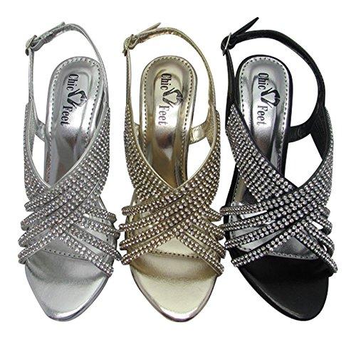 Chic Feet , Sandales pour femme Noir - noir