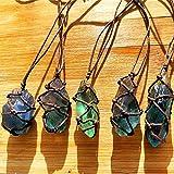 Natürlicher Fluorit-Quarz-Kristall Stein,Blau-grüner Fluorit-Behandlungs-Stein, Fluorit-Verzierungs-Fluorit-Reiki Chakra-Anhänger mit Stricken zufällig