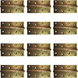 Atlantic Door Butt Hinges 5 inch x 12 Gauge/2.5 mm Thickness (Stainless Steel, Antique Finish, Pack of 12 Piece)