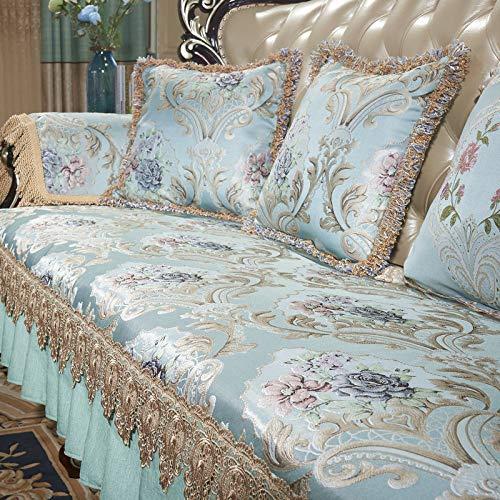 Sofa Kissenbezug rutschfest Luxus vier Jahreszeiten hohe Präzision 123 Personen Kombination Anzugblau muss 45 * 45 halten