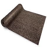 etm Sicherheitsmatte gegen Glätte | Braun | rutschfeste Granulat Beschichtung | deutsches Qualitätsprodukt | 120 cm Breite | 2 m Länge