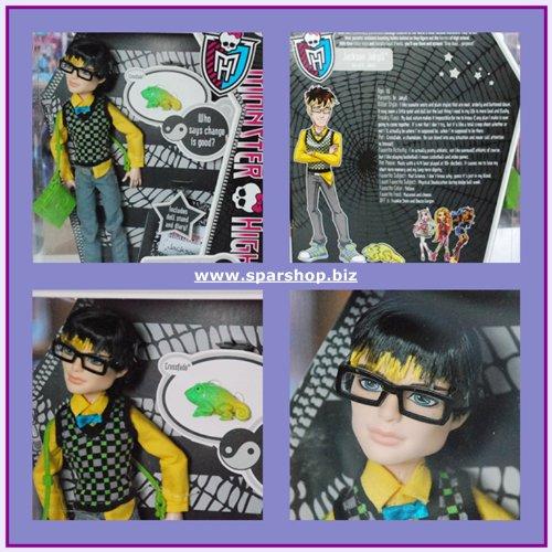 Sofort Lieferbar Monster High Basic Jackson Jekyll mit Haustier,Tagebuch (Jackson Monster High)