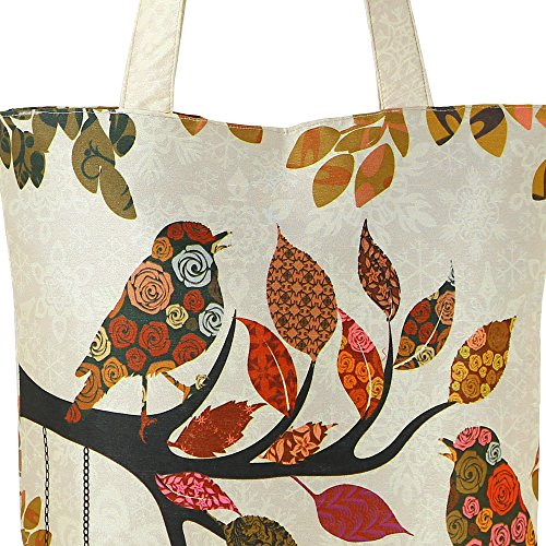 ShalinIndia – stampa digitale, multiuso Fashion shopping bag Multicolore