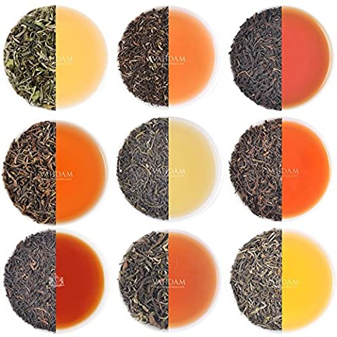 10 Darjeeling Teas Sampler, Including 2017 HARVEST First Flush Teas - 10 Exclusive Spring, Summer & Autumn Teas, 100% PURE UNBLENDED DARJEELING TEAS - Grown & Packed at Source in India, 40-50 Cups - Foglia Maker
