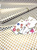 #8: Satyam kraft (Pack of 10) Gift Wrapping polka dot ONLY GOLDEN Colour Paper, Envelope Making,Card Making, Scrapbooking and Multipurpose Creative Uses for BIRTHDAY, ANNIVERSARY, WEDDING, CHRISTMAS, FRIENDSHIP DAY, VALENTINE DAY, MOTHER'S DAY, RAKSHABANDHAN, SISTER AND YOUR LOVED ONES WITH FREE 10 BOW RIBBONS
