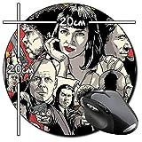 Pulp Fiction John Travolta Quentin Tarantino B Tapis De Souris Ronde Round Mousepad PC