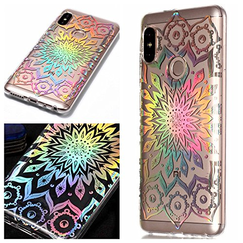 Xiaomi Redmi Note 5 Pro Hülle Silikon cover, CHcase Kristall Bling Glänzend Funkeln Glitzer Rave Holographic Laser Silikon Transparent TPU Bumper Case Backcover für Xiaomi Redmi Note 5 Pro -4