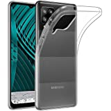 Amazon Brand - Solimo Mobile Cover for Samsung Galaxy M12 (Soft & Shockproof Back Case with inbuilt Cushioned Edges), Transpa