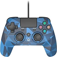 Snakebyte Game:Pad 4 S for PlayStation 4 and PlayStation 3 - Wired PS4 & PS3 Gamepad Controller with 3 meter Cable (Camouflage Blue)