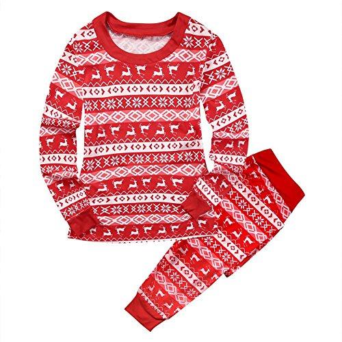Yalatan Frauen Männer Baby Passenden Familie Weihnachten Pyjamas Striped Lounge Wear Nachtwäsche für Mama Papa (Asian Girl Kostüm)