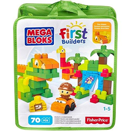 MEGA BLOKS - Juego de 70 piezas con diseño de dinosaurio