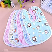BabyGo Waterproof Babies Apron with Bib (Multicolour) - Set of 6