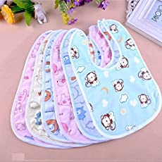 Premium Quality Baby Cotton Bibs, Ultra Soft Material | Comfortable Soft Feeding Bibs for Unisex Pack 2 of (0 to 12 Months)