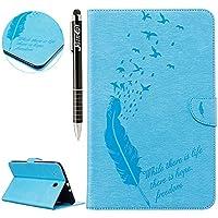 Galaxy Tab E 9.6 Hülle,SainCat Galaxy Tab E 9.6 Ledertasche Brieftasche im BookStyle PU Leder Karikatur Vogelfedern... preisvergleich bei billige-tabletten.eu