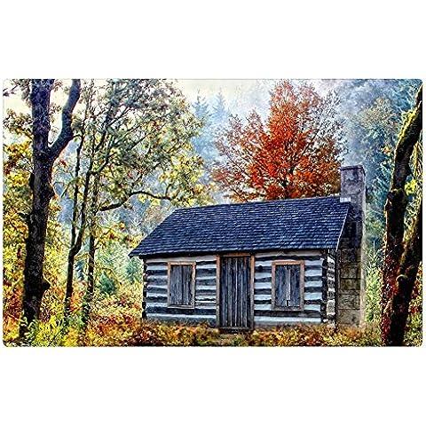 iRocket interior Suelo Alfombra/Alfombrilla–Lovely cabina en un bosque en otoño (23.6