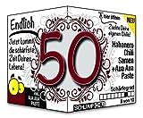 Endlich 50 - Eine tolle Geschenkidee zum 50. Geburtstag und ein witziges Geschenk für Männer und Frauen!