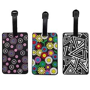 Lalo Novo Etichetta per valigie, Colorful-3 (Multicolore) - Luggage Suitcase Tags