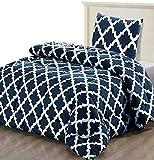 Utopia Bedding Bettdecke - Sommerdecke mit Kissenbezug - Leichte Bettdecke (540g Füllung) - (135 x 200 cm, Marineblau)