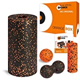 Blackroll Orange STANDARD ORANGE-Box - Faszienrollen-Set mit Faszienrolle (Standard), Mini Massagerolle, Massageball & Twinball