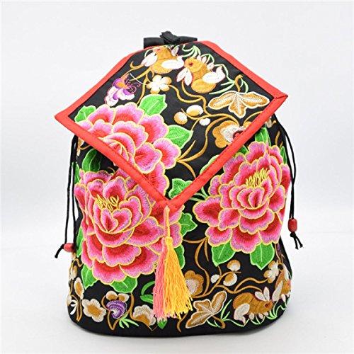 Damemädchensegeltuch-Rucksack Gedruckt Ethnic Schule Shouldre Tasche Reisetasche Multicolor 04
