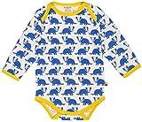 loud + proud Unisex Baby Body Lang, Druck, Blau (Pacific Pa), 92 (Herstellergröße: 86/92)