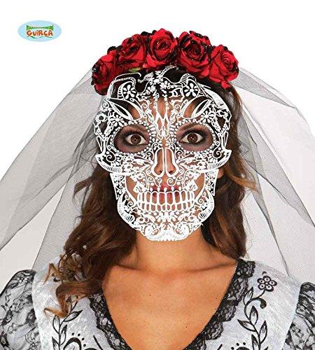 Kostüm Braut Skelett (Fiestas Guirca GUI19667 - Totenkopf-Diadem mit)