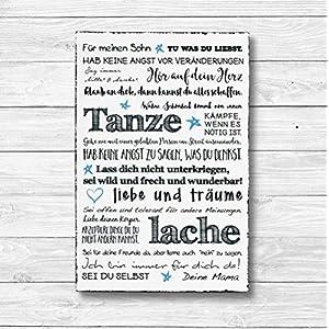 Für meinen Sohn – Dekoschild Wandschild Holz Deko Wand Schild 20x30cm Holzdeko Holzbild Geschenk Mitbringsel Geburtstag