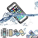 iPhone 6 Waterproof Case Cover, iNextStation Durable Super Multi function Outdoor Sports Waterproof Dustproof Scratch-Free TPU Silicone Case Cover For Apple iPhone 6 4.7 inch Screen - Black