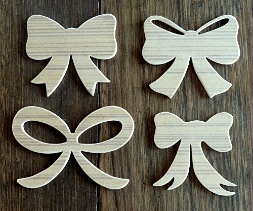 beautiful-set-of-4-different-paintable-hand-crafted-mdf-christmas-bows-smallest-is-3-x-25-x-3mm-thic
