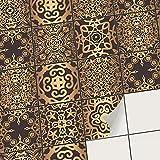 creatisto Mosaik Klebefliesen Stickerfliesen Fliesenfolie - Klebefolie Aufkleber für Fliesen | Stickerfliesen - Mosaikfliesen für Küche, Bad, WC Bordüre (15x15 cm | 18 -Teilig)