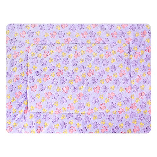 TFENG Luxury Fleece Washable Blankets Soft Warm Dog Blanket for Pet Beds Sofa Carrier -