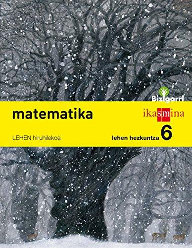 Matematika. Lehen Hezkuntza 6. Bizigarri  - Pack de 3 libros - 9788498553611