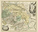 Historische Landkarte: Fürstentum Halberstadt mit der Abtei Quedlinburg und der Grafschaft Werningerode und der Harz 1760 (Plano) - Christoph A. Dingelsted, Peter Schenk