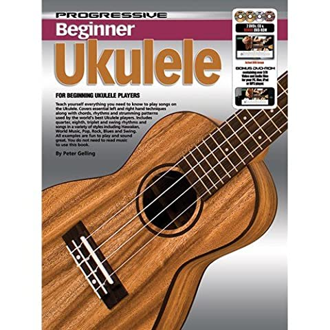 Progressive: Beginner Ukulele (Book/CD/2DVDs/DVD-ROM/Poster) - Sheet Music, CD, 2 x DVD (Region 0), DVD-Rom, Posters