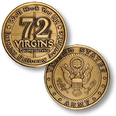 US Army 72 Virgins Bronze Antique Challenge Coin by Northwest Territorial Mint
