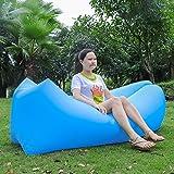 Omiki Canapé gonflable Canapé gonflable à air imperméable avec sac de couchage Airbag étanche extérieur Canapé-lit pour plage, camping, piscine