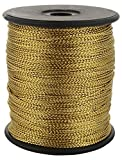 Am Synthetic Stringing Zari Threads for Jewellery Making/ Wrapping/ Crafts (Gold)