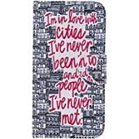 nancen Apple iPhone 4/4S (3,5 pollici) Cover Custodia Colorato Custodia in pelle PU Wallet Portafoglio Flip Case Silicone Tpu morbido interna cover cover con Function supporto e porta-carte