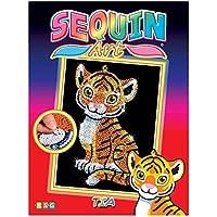Sequin Art 1413 - L'arte delle paillettes, soggetto: Tigre Tia