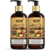 WOW Skin Science Moroccan Argan Oil Hair Care Kit - consist of Shampoo & Conditioner - Net Vol 600mL