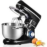 Nidouillet Robot Pâtissier, Mixeur Électriques de Cuisine, 6 vitesses, Mixeur à Aliments avec Crochet Pétrisseur, Fouet et Ba