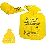 Hanfare CX50/CWMD2 Klinische Afvalzak, Medium Duty, Geel (Pack van 50)