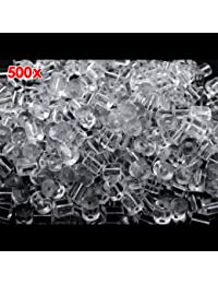 500X 3mm Plastik Ohrstopper für Ohrschmuck Ohrstecker