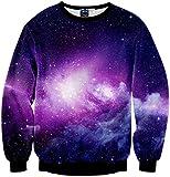 Pizoff Unisex Hip Hop Sweatshirts mit 3D Digital Print 3D Muster galaxy sternhimmel Y1759-B9-XXL